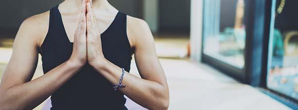 Yoga am Mittag